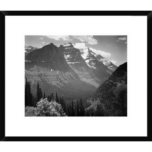 'Snow Covered Mountains, Montana -  1941' by Ansel Adams Framed Photographic Print by Global Gallery
