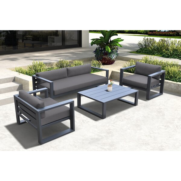 Pyrite 4 Piece Sofa Seating Group with Cushions by Latitude Run