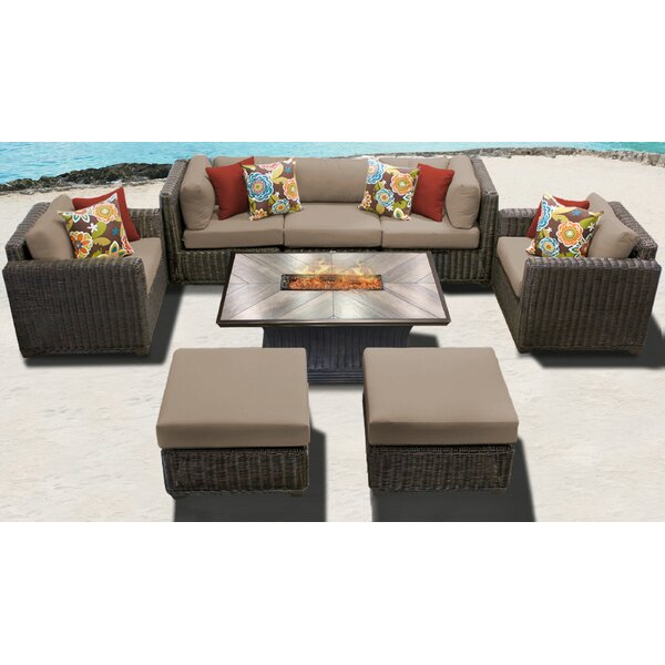Fairfield 8 Piece Sofa Seating Group with Cushions by Sol 72 Outdoor