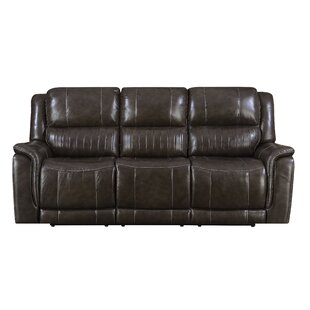 Guineau Leather Reclining Sofa Red Barrel Studio