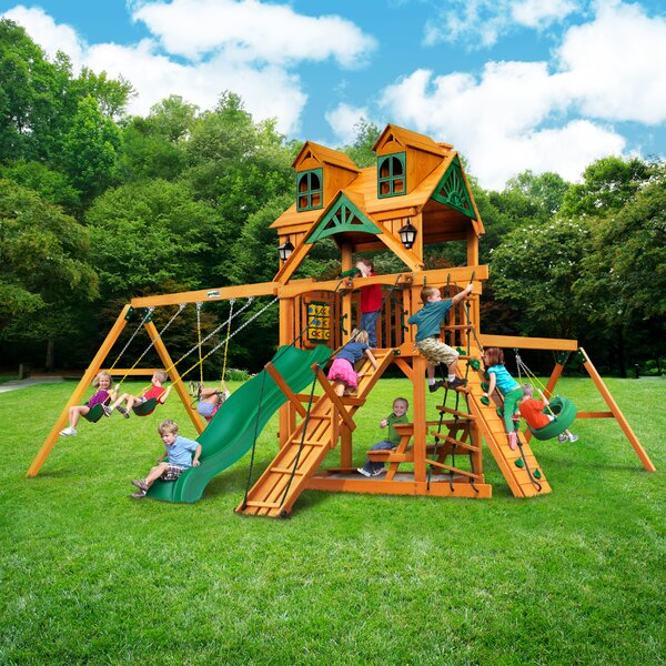 Frontier Malibu Roof Swing Set by Gorilla Playsets