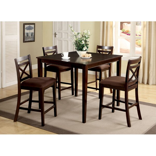 Thor 5 Piece Solid Wood Dining Set by Red Barrel Studio