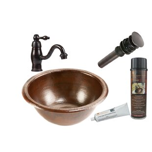 Compare & Buy Metal Circular Drop-In Bathroom Sink with Faucet By Premier Copper Products