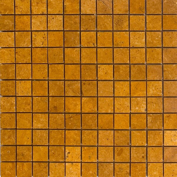 1 x 1 Marble Mosaic Tile in Inca Gold by Epoch Architectural Surfaces