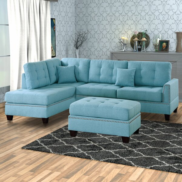 Thamann Reversible Modular Sectional With Ottoman By Red Barrel Studio