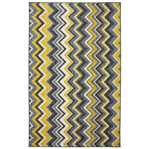 Claireville Yellow/Gray Area Rug by Latitude Run