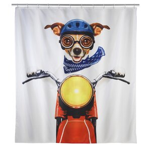 Biker Dog Shower Curtain
