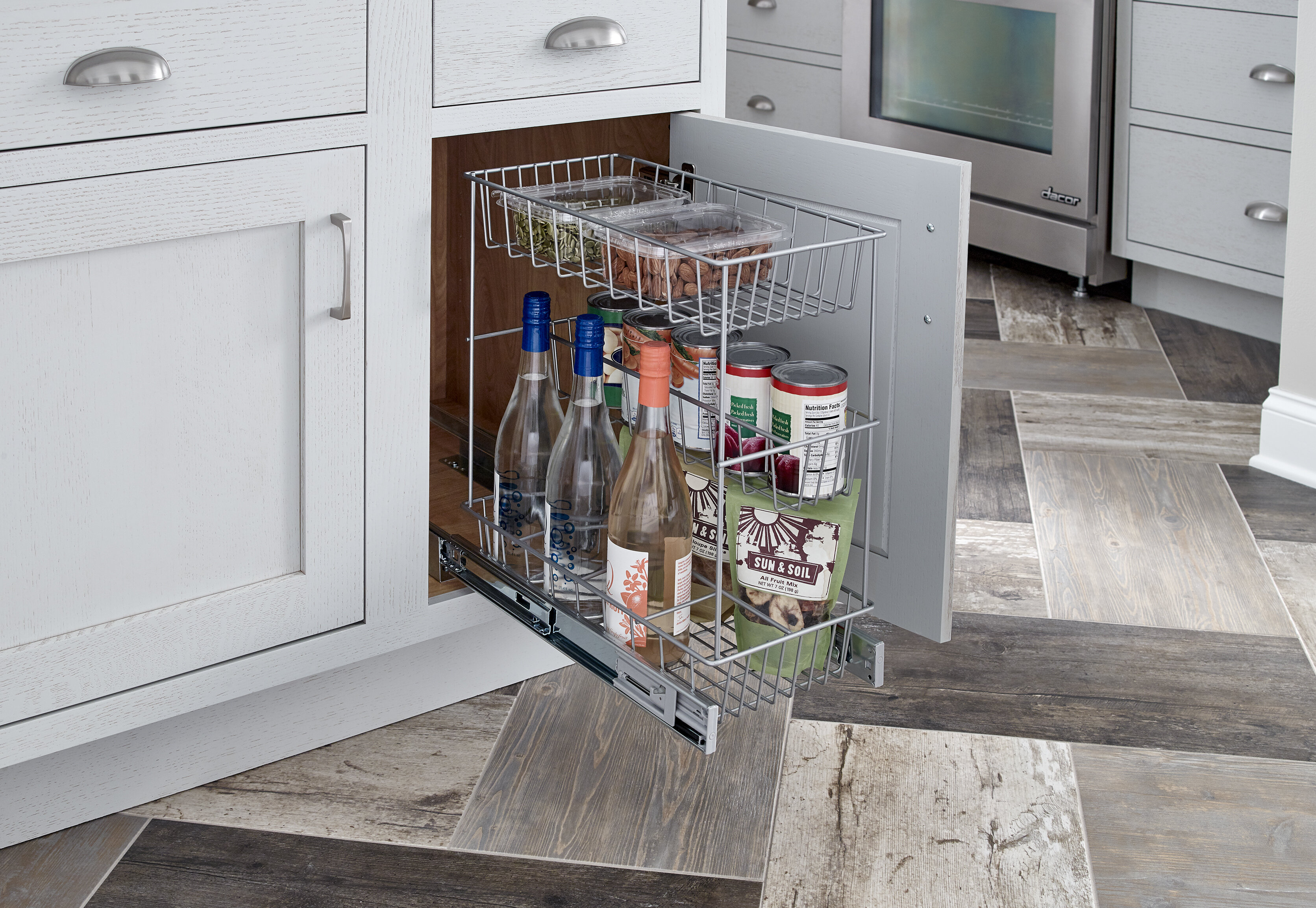 ClosetMaid 3 Tier Compact Kitchen Cabinet Pull Out Basket & Reviews ...
