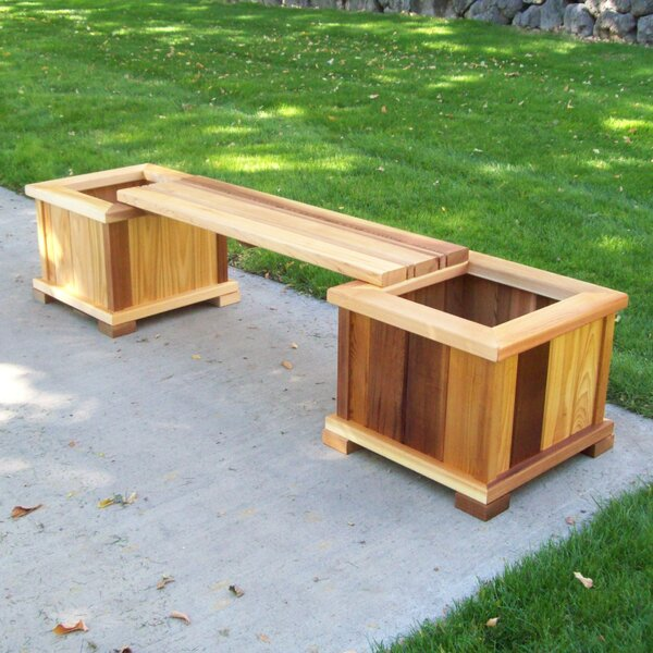 Planter Bench by Wood Country