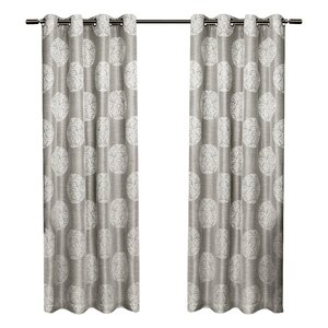 Bruckdale Damask Semi-Sheer Curtain Panels (Set of 2)