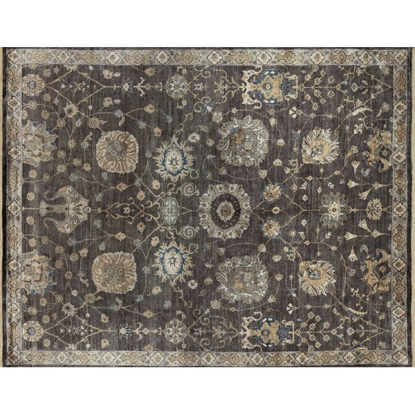 Kehoe Hand-Knotted Gray Area Rug by Alcott Hill