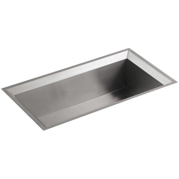 Poise 33 x 18 x 9-3/4 Under-Mount Single-Bowl Kitchen Sink with Mirror Finished Rim by Kohler