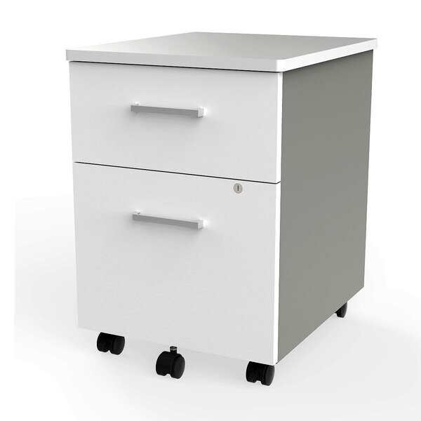 Lampert 2-Drawer Mobile Vertical Filing Cabinet by Symple Stuff