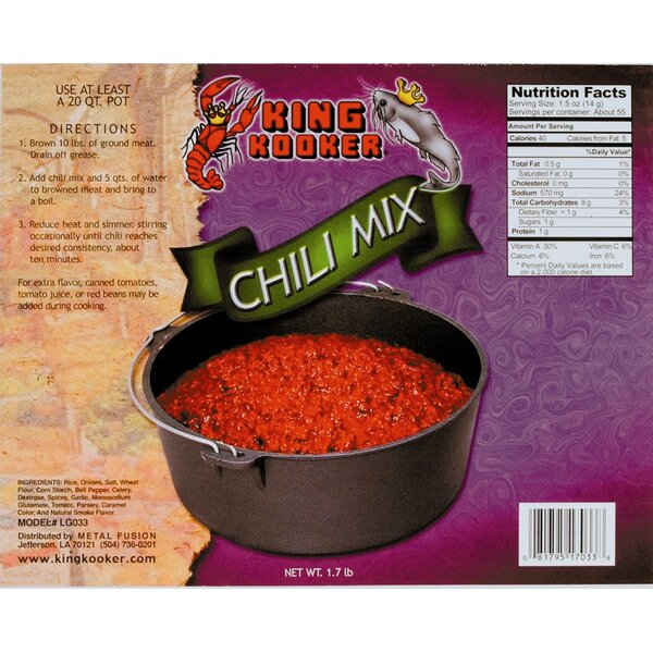Party Size Chili Mix by King Kooker