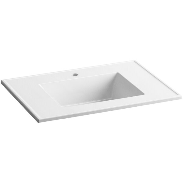 Ceramic Impressions Impressions 31 Single Faucet Hole Single Bathroom Vanity Top by Kohler