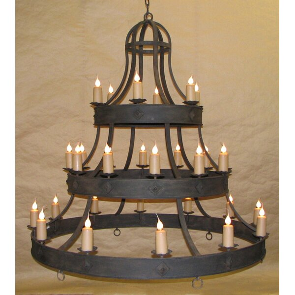 Glossop 28-Light Candle Style Tiered Chandelier by Bloomsbury Market Bloomsbury Market