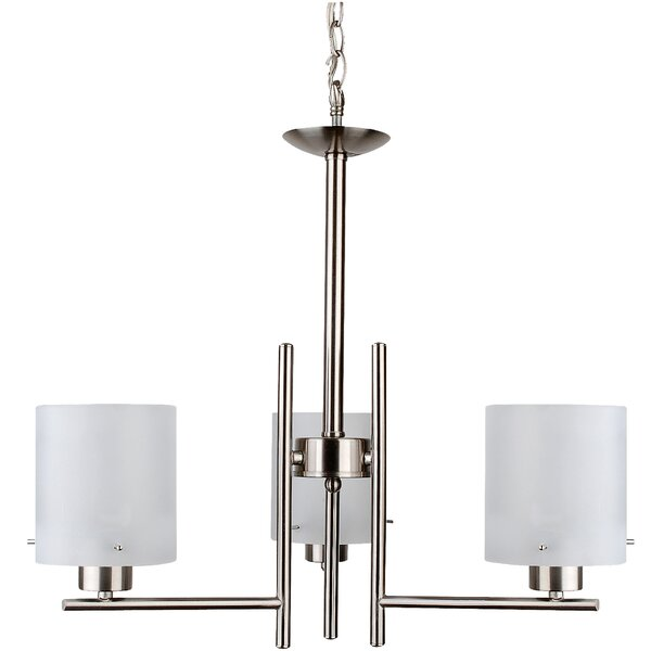 3 - Light Shaded Classic / Traditional Chandelier by Ebern Designs Ebern Designs