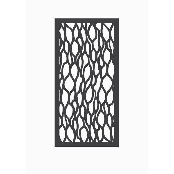 4 ft. H x 2 ft. W Leafstream Fence Panel by OUTDECO