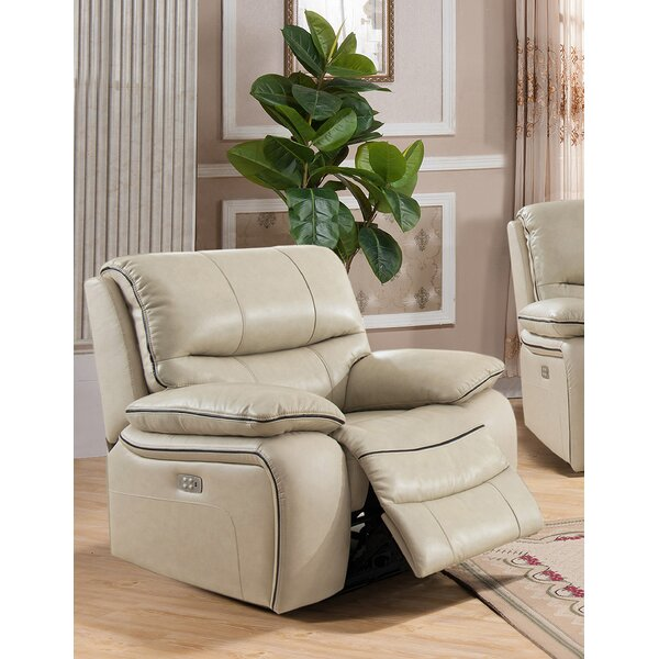Gunning Leather Power Recliner TCQS1043