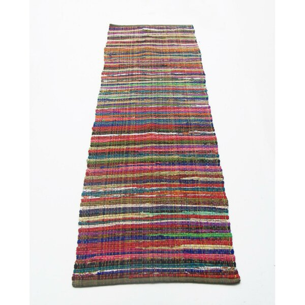 Lavinia Recycle Chindi Rag Cotton Pink/Red Indoor/Outdoor Area Rug by Latitude Run