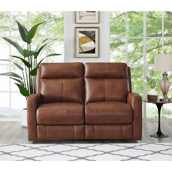 Amasia Leather Reclining Loveseat By Winston Porter