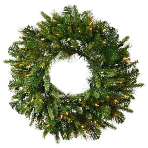 120 Lighted Artificial Cashmere Christmas Wreath by Vickerman