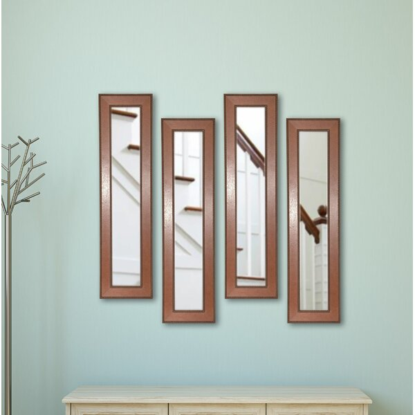 4 Piece Dunnam Western Rope Panels Mirror Set (Set of 4) by Darby Home Co