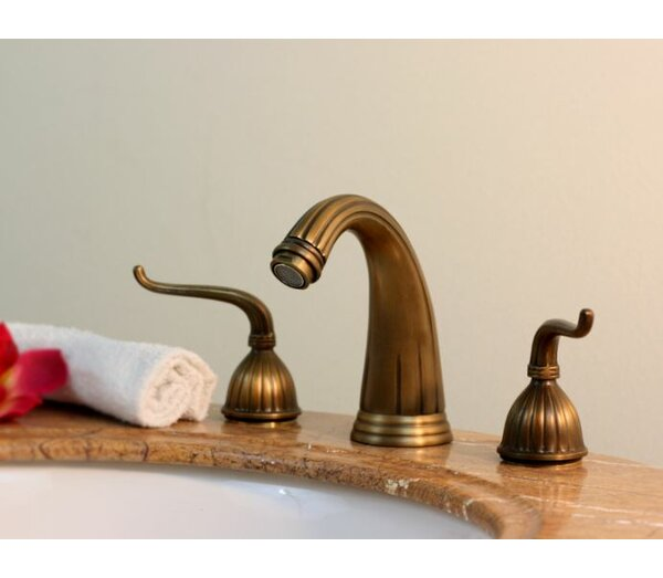 Widespread Bathroom Faucet with Double Scroll Handles by Legion Furniture
