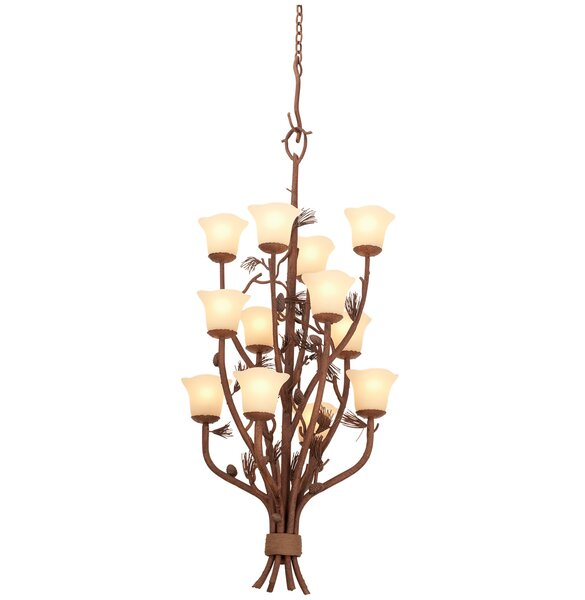 Barkhamsted 12-Light Shaded Tiered Chandelier By Millwood Pines