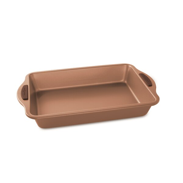 Non-Stick Rectangular Freshly Baked Cake Pan by Nordic Ware
