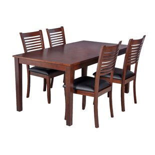 Boswell 5 Piece Solid Wood Dining Set By TTP Furnish