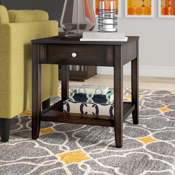Candleick End Table With Storage By Latitude Run