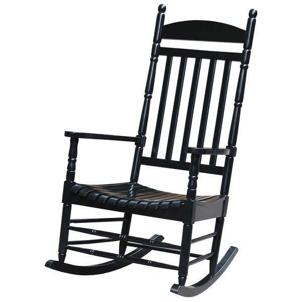 Rayane Solid Wood Rocking Chair by August Grove