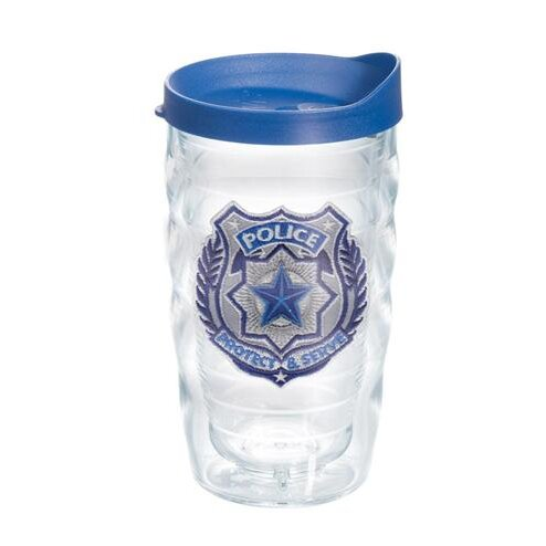 Celebrate Life Police Officer Wavy 10 oz. Plastic Travel Tumbler by Tervis Tumbler