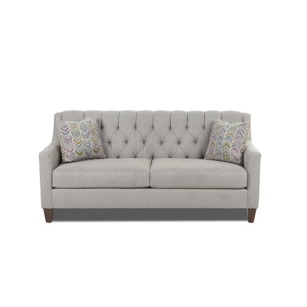 Review Hamblen Fabric Upholstery Sofa