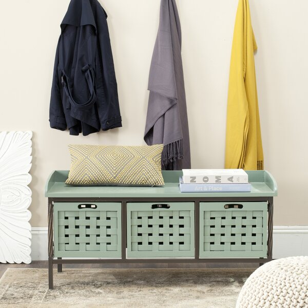 Isaac Wooden Storage Bench by Safavieh