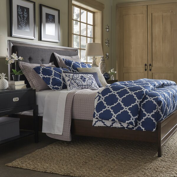 Francesca Linen Tufted Upholstered Panel Bed by Birch Lane™ Heritage