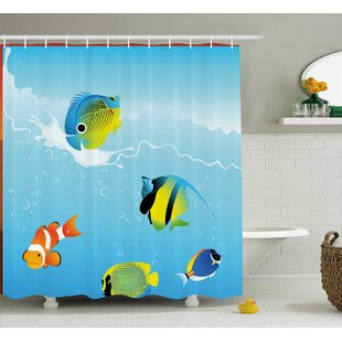 Price Check Tropical Fish Shower Curtain By East Urban Home