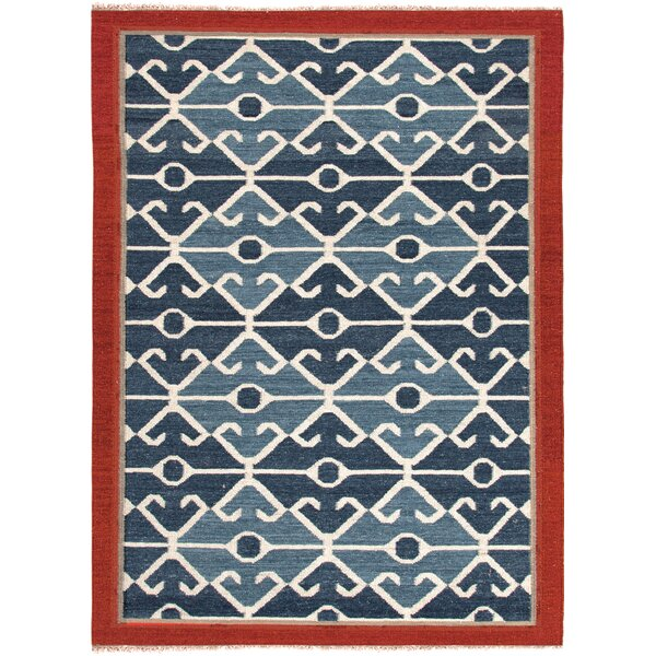 Rubina Blue/Red Area Rug by Bloomsbury Market
