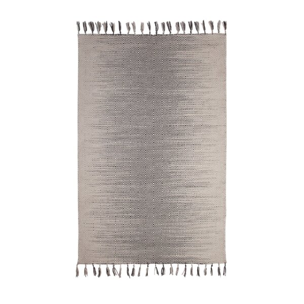 Briarden Hand-Woven Wool Charcoal/Gray Indoor Area Rug by Bungalow Rose