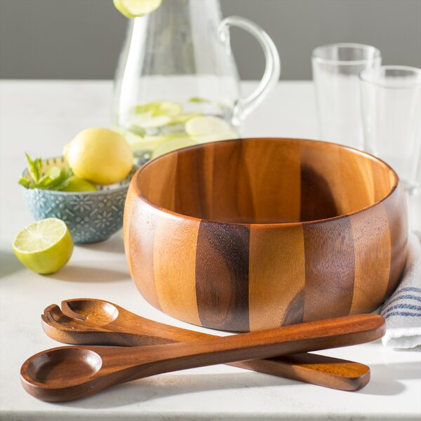 Aiken 3 Piece Wood Salad Set by Mint Pantry