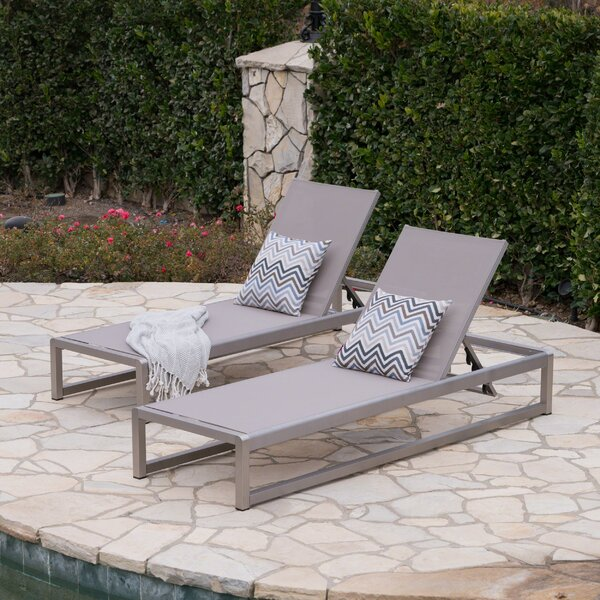 Roberson Outdoor Mesh Chaise Lounge (Set of 2) by Orren Ellis