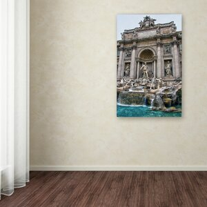 Trevi Fountain by CATeyes Photographic Print on Wrapped Canvas by Trademark Fine Art