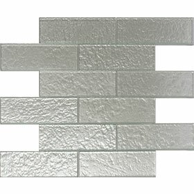 Cartagena 2 x 6 Glass Field Tile in Pearl by Vetromani