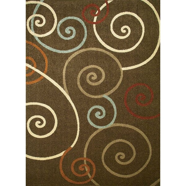Chester Brown Scroll Area Rug by Threadbind