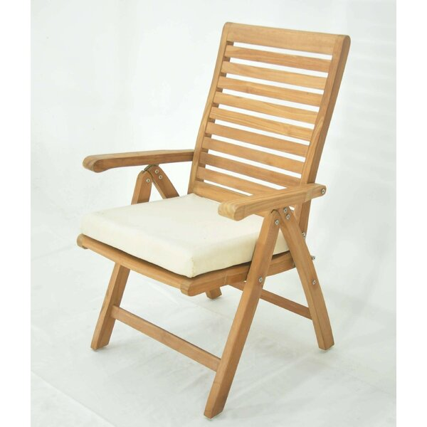 Matheny Folding Teak Patio Dining Chair by Rosecliff Heights