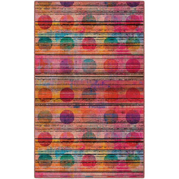 Corum Sunset Pink Area Rug by Ebern Designs