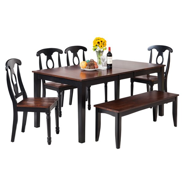 Downieville-Lawson-Dumont 7 Piece Solid Wood Breakfast Nook Dining Set by Loon Peak