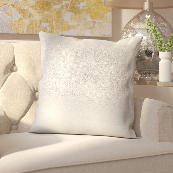 Alejandre Shimmering Metallic Foil Throw Pillow by Everly Quinn