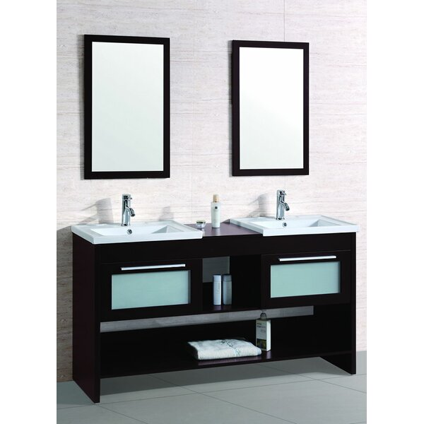 Strathcona 61 Double Bathroom Vanity Set with Mirror by Ebern Designs